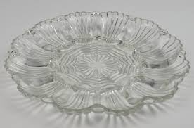 white deviled egg plate anchor hocking glass deviled egg plate 896 clear pattern