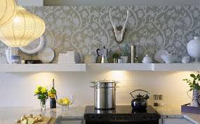 wallpaper ideas for kitchen excellent wallpaper designs for kitchen patterns small kitchens