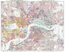Map Of London England by London Poverty Map 1889 London England Large Format Wall Map By