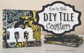 how to make ceramic tile coasters