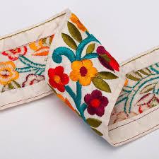 buy ribbon neotrims indian embroidered sari ribbon trimming or