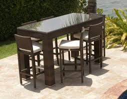Patio High Chairs Outdoor Bar Dining Set Outdoor Bar Height Bistro Table And Chairs