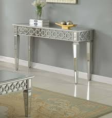 Elegant Sofa Tables by T1840 Sophie Silver Mirrored Living Room Hallway Sofa Mirrored