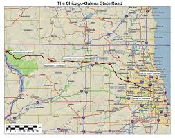 Illinois Interstate Map by Illinois Ohio Indiana Michigan Wisconsin Historic Roads Paths