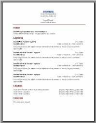 resume template first job resume template for first job free