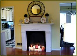 fake stone fireplace home design ideas