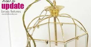 Spray Painting Brass Light Fixtures Livelovediy How To Update Brass Fixtures