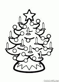 coloring page the candles on the christmas tree