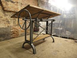 Large Drafting Table Large Stand Up Oak Industrial Drafting Table Desk Industrial