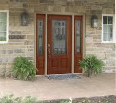 Fiberglass Exterior Doors With Sidelights Front Entry Doors With Sidelights And Transom Blinds For Door