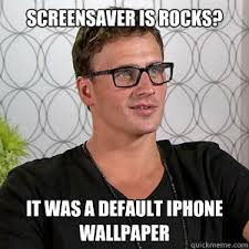 screensaver is rocks it was a default iphone wallpaper