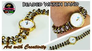 beaded bracelet watches images How to make beaded watch band diy art with creativity 150 jpg