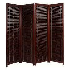 Screen Room Divider Tranquility Wooden Shutter Screen Room Divider 4 Panel Walnut