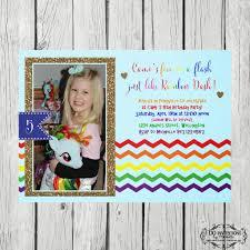 cami u0027s 5th birthday invitation rainbow dash u2013 ellery designs