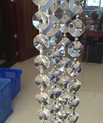 Chandelier Strands Aliexpress Com Buy 50cm Height Per Chain 18mm Hexagonal Crystals
