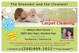 Martin Carpet Cleaning Carbonated Solutions Of Treasure Valley Carpet Cleaning Home