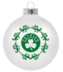 boston celtics large christmas ornament