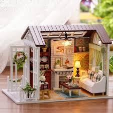 flever dollhouse miniature diy house kit creative room with