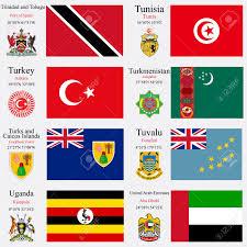 Flag Of Turkmenistan World Flags Of Trinidad And Tobago Tunisia Turkey Turkmenistan