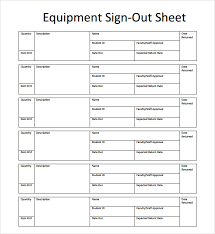 Free Templates For Sign In Sheets Sle Sign Out Sheet Template 8 Free Documents In Pdf