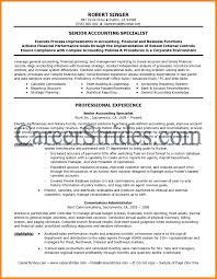 Senior Accounting Professional Resume Senior Accountant Resume Art Resumes