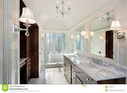 Marble Master Bathroom by Master Bath With Marble Shower Royalty Free Stock Photography