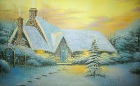 Thomas Kinkade Christmas Tree For Sale by Painting Christmas Tree Christmas Lights Decoration