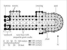 romanesque floor plan jambs romanesque
