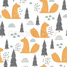 squirrel wrapping paper seamless pattern with squirrel creative woodland height detailed