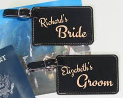 and groom luggage tags pair 2 of personalized wedding luggage tags custom
