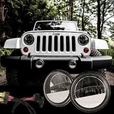 2017 jeep wrangler fog light bulb size 2007 2017 jeep wrangler jk led fog light kit truck lite 80275