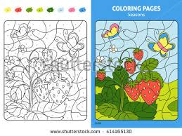 seasons coloring kids monthprintable stock vector