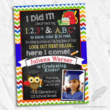 kindergarten graduation invitations shop graduation invitations on wanelo