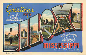 greetings from biloxi mississippi large letter postcard 11 95