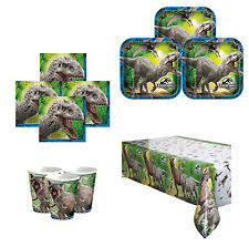 Jurassic Park Decorations Dinosaurs Paper Party Tableware Ebay