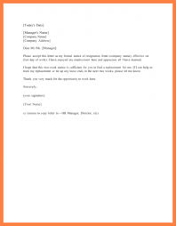 3 sample 2 week notice letters notice letter
