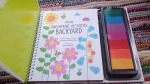 usborne books u0026 more backyard fingerprint activities youtube