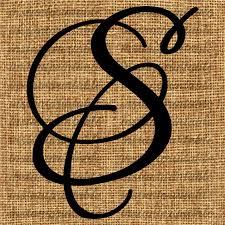 monogram letter s monogram initial letter s letter clip letter decal