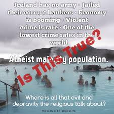 Iceland Meme - deconstructing the atheist nations are better meme come