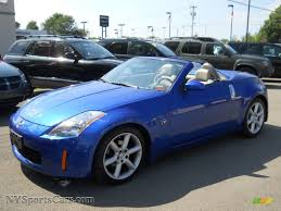 blue nissan 350z 2005 nissan 350z touring roadster in daytona blue metallic
