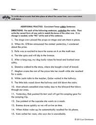 verb tense shifts within sentences worksheet by bibliofiles tpt