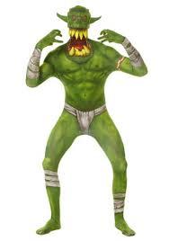 Creature Black Lagoon Halloween Costume Kids Green Orc Morphsuit