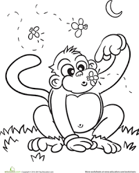 color cute monkey monkey fireflies crayons