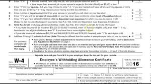 W4 Worksheet How To Correctly Fill Out Your W4 Form