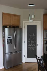 kitchen attractive chalkboard wall decor kitchen with black awesome kitchen chalkboard ideas regtangle black chalkboard door in kitchen stainless steel double door refrigerator with