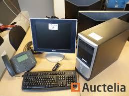 ordinateur de bureau sony ordinateur de bureau ecran sony et téléphone