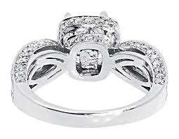 channel engagement ring 14k white gold solitaire halo bridal engagement ring