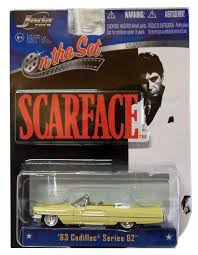 scarface cadillac scarface 1963 cadillac series 62 convertible diecast car movie toy