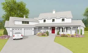 farm house house plans plan 28912jj modern farmhouse with angled garage plus bonus room