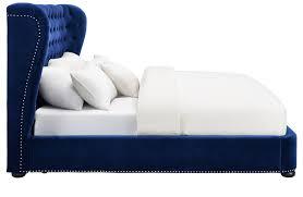 King Furniture Sofa Bed by Finley Blue Velvet King Platform Bed From Tov Coleman Furniture